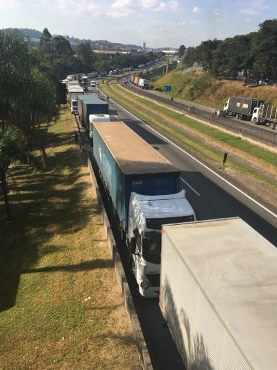 Lorry drivers strike Brazil
