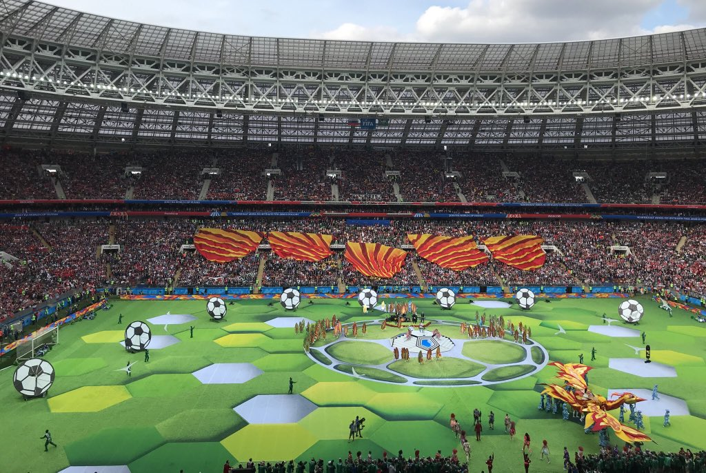 Brazil hands World Cup over to Russia in the opening ceremony