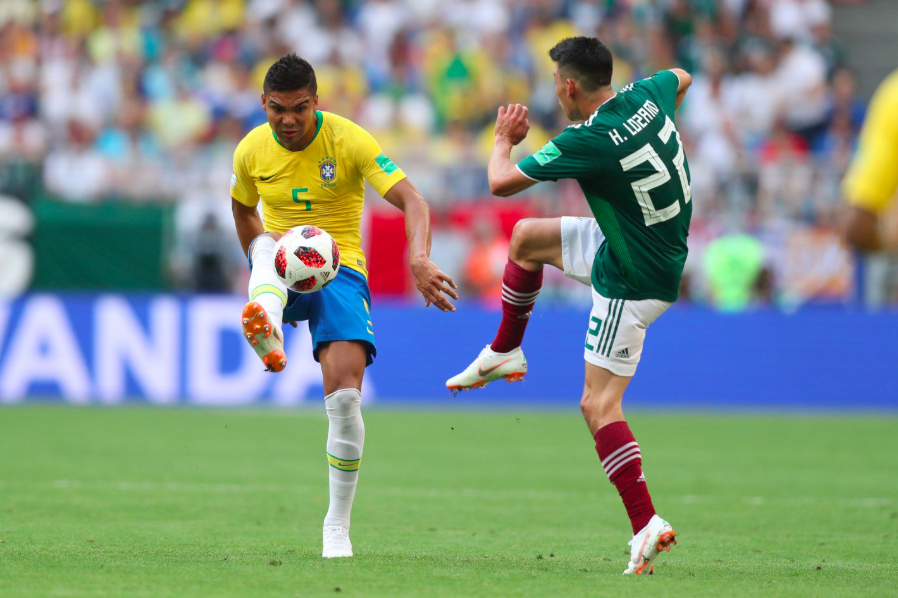 Brazil tops Mexico 2-0 to advance to World Cup quarterfinals
