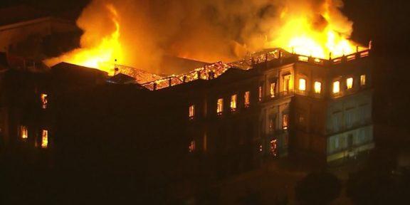 Fire National Museum Rio de Janeiro