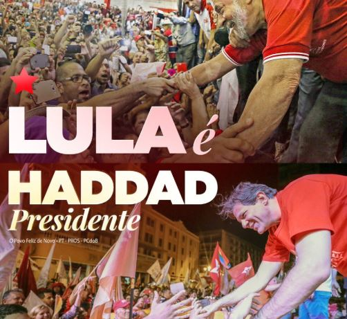 Lula out, Haddad in