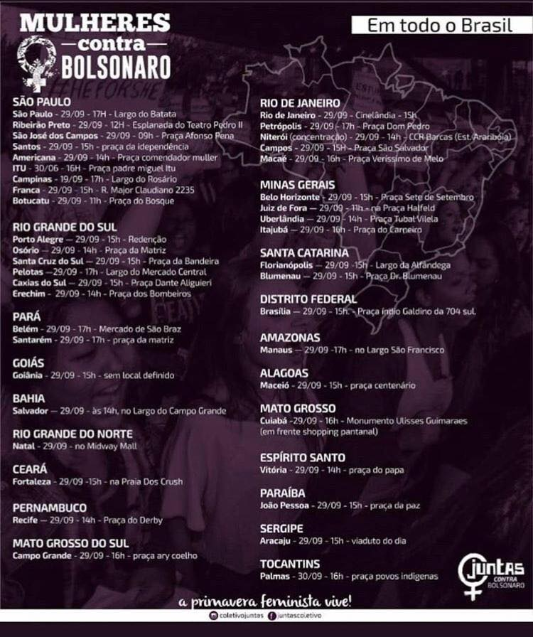 Mulheres Unidas Contra o Bolsonaro
