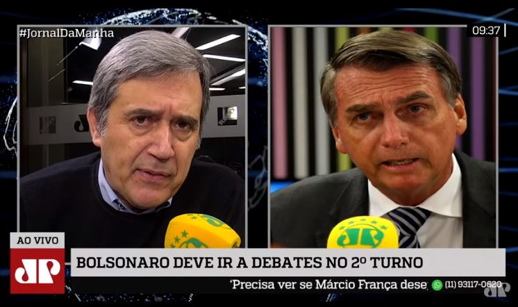 Fighting talk: Bolsonaro insists he will not soften discourse in final weeks of campaign