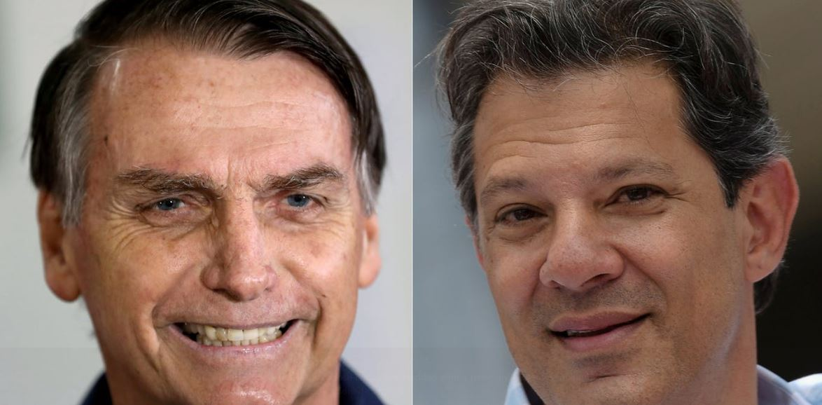 Polarised candidates Bolsonaro and Haddad head through to second electoral vote