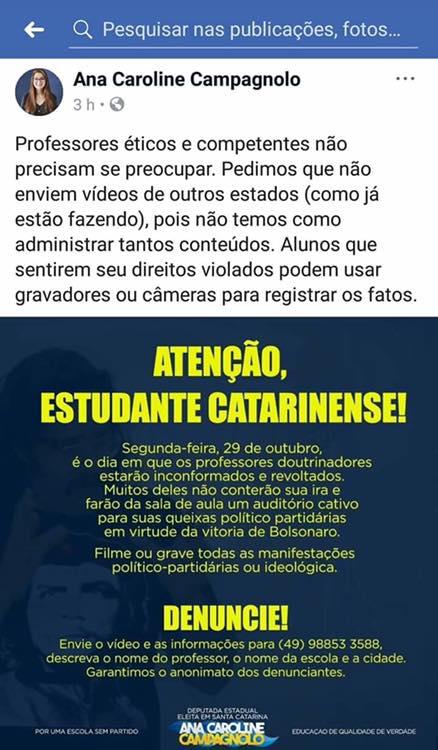Universities attack freedom of expression Bolsonaro