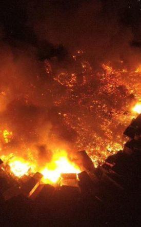 Manaus Brazil Fire Natural Disaster
