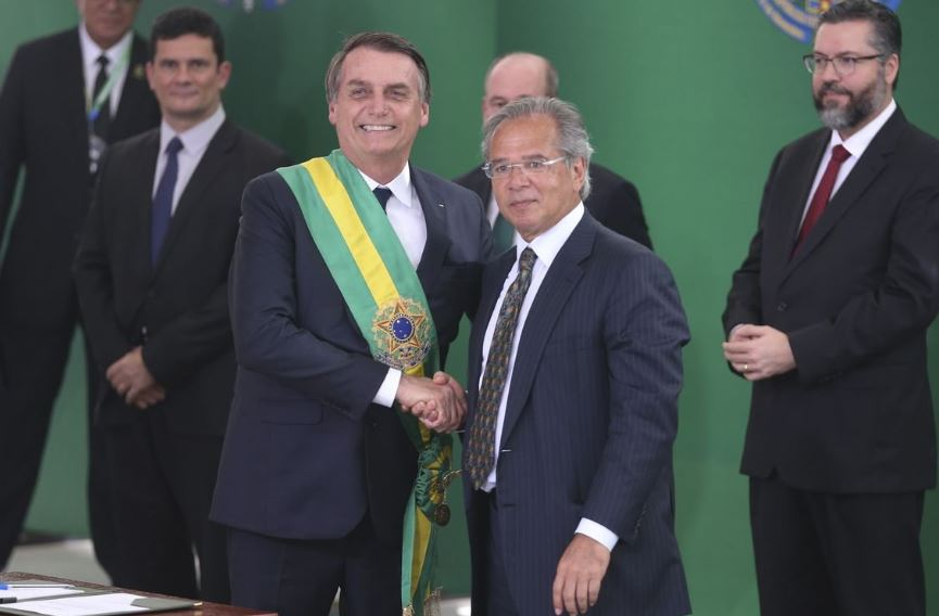 "Bolsonaro and Economy Minister Paulo Guedes on a mission to ""recover investor trust in Brazil"""